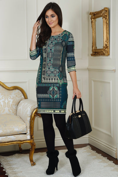 Lizzy Green  Print Tunic Dress - LadyVB   s.r.o - 1