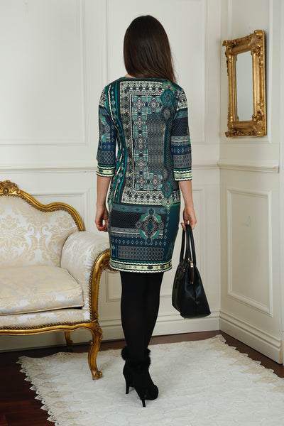 Lizzy Green  Print Tunic Dress - LadyVB   s.r.o - 2