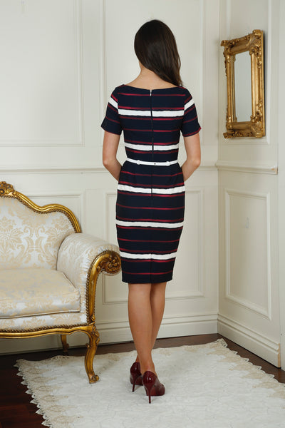 Cara Striped Curvy Pocket Dress - LadyVB   s.r.o - 2