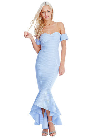 Blue Fishtail Dress - LadyVB   s.r.o - 7