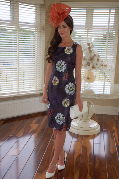 Marta Navy Floral Dress - LadyVB   s.r.o - 1