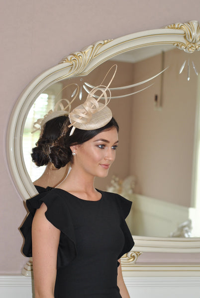 Holly cream fascinator m28 - LadyVB   s.r.o - 5