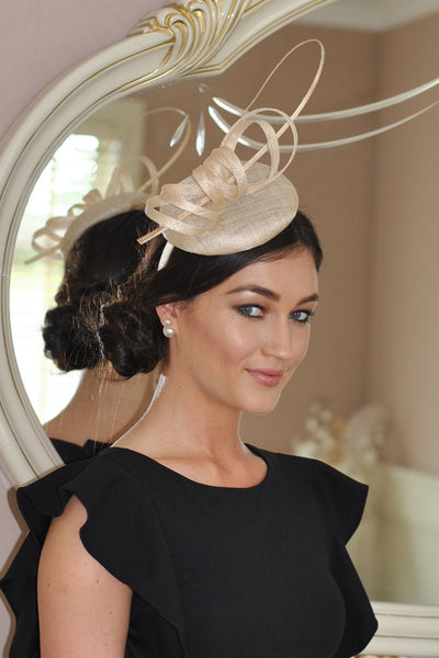 Holly cream fascinator m28 - LadyVB   s.r.o - 1