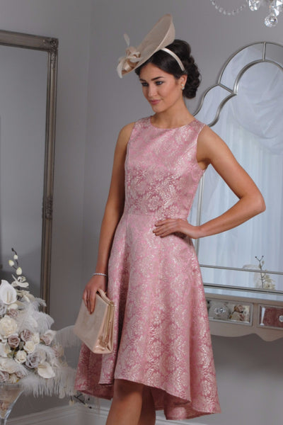 Pippa  Pink Jacquard Swing Dress - LadyVB   s.r.o - 2