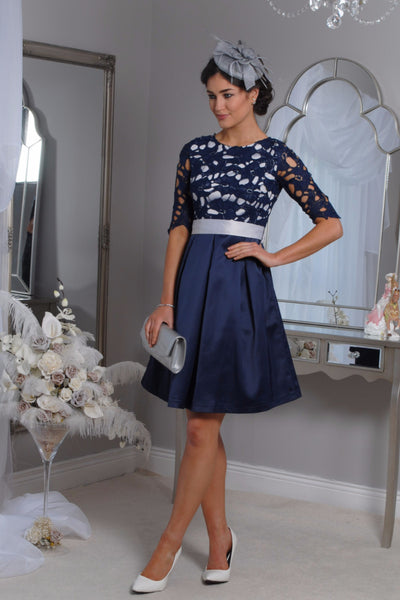 Crissie Navy Swing Dress - LadyVB   s.r.o - 1