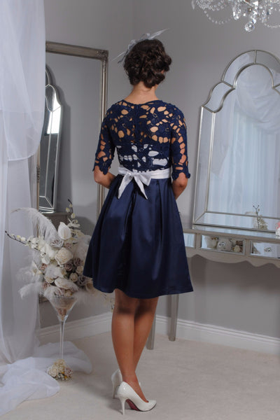 Crissie Navy Swing Dress - LadyVB   s.r.o - 2