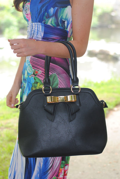 Black with Front Bow Handbag - LadyVB   s.r.o - 3