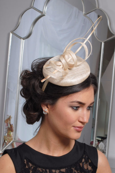Holly cream fascinator m28 - LadyVB   s.r.o - 3