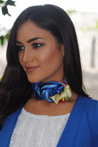 Blue Red and Yellow Tie Neckerchief - LadyVB   s.r.o - 1