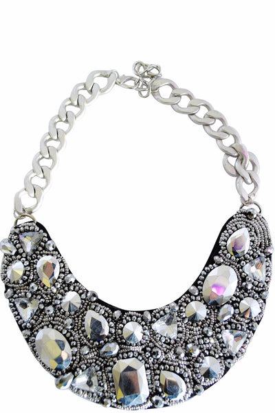Brie Silver Collar Chain Necklace - LadyVB   s.r.o