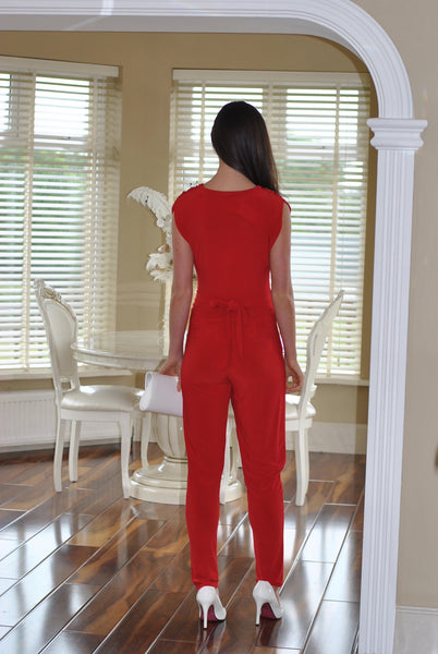 Macy Red Jumpsuit - LadyVB   s.r.o - 2