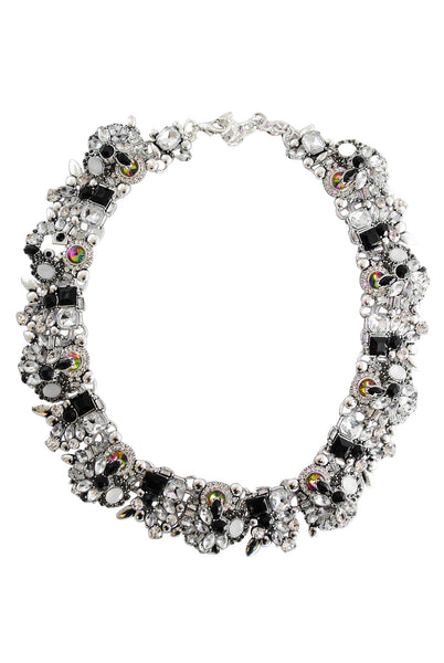 Ashleigh Black and White Jewel Necklace - LadyVB   s.r.o - 1