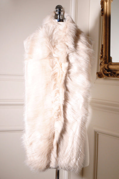 Jo Beige Long Fur Collar - LadyVB   s.r.o - 2