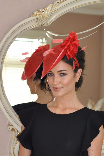 Heidi Burnt Fascinator - LadyVB   s.r.o - 1