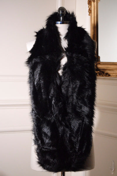 Jo Black Long Fur Collar - LadyVB   s.r.o