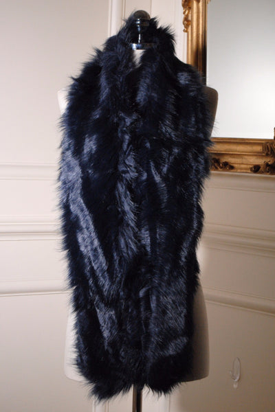 Jo Navy Long Fur stole - LadyVB   s.r.o
