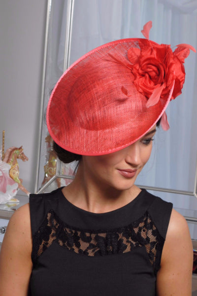 Heidi Burnt Fascinator - LadyVB   s.r.o - 4