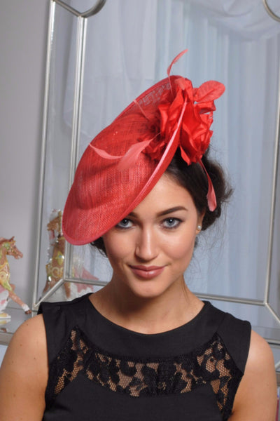 Heidi Burnt Fascinator - LadyVB   s.r.o - 3