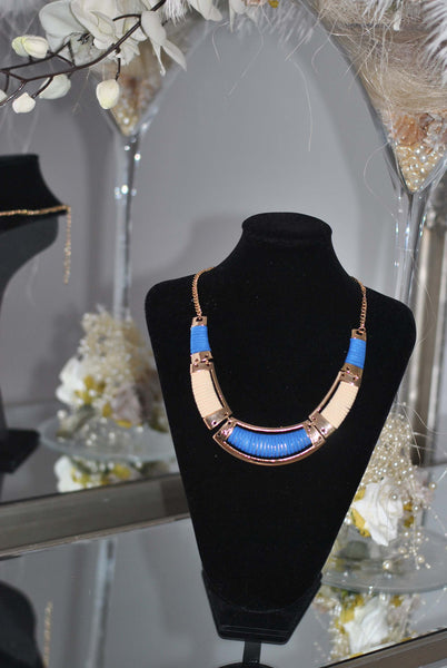 Blue and Gold necklace Sally - LadyVB   s.r.o - 2