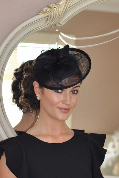Black Disc Fascinator - LadyVB   s.r.o - 1
