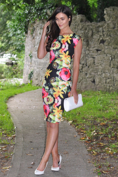 Celia Bright Floral Midi Dress - LadyVB   s.r.o - 1