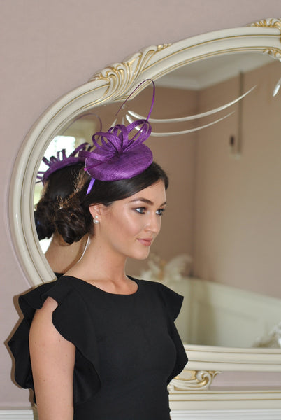 Holly Purple Fascinator - LadyVB   s.r.o - 2
