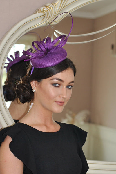 Holly Purple Fascinator - LadyVB   s.r.o - 1
