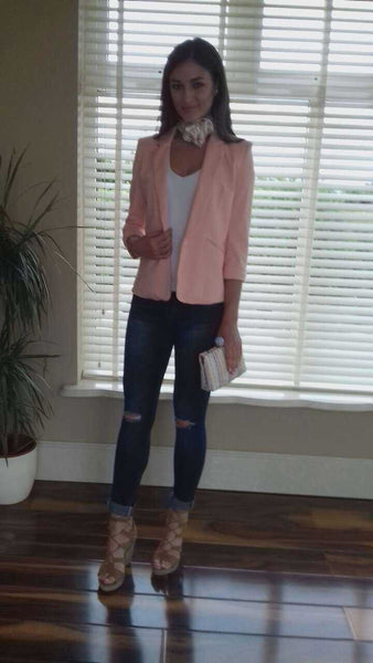Peachy Nude Mandy Tailored Blazer - LadyVB   s.r.o - 2