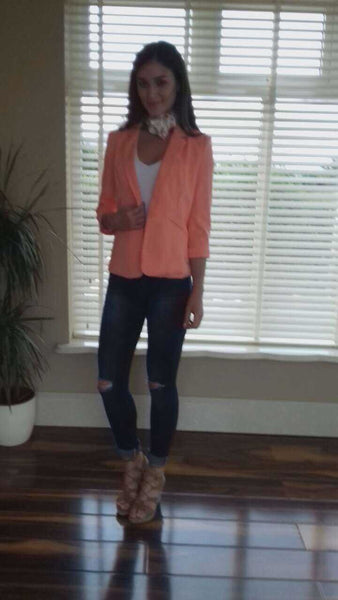 Coral Mandy Tailored Blazer - LadyVB   s.r.o - 3