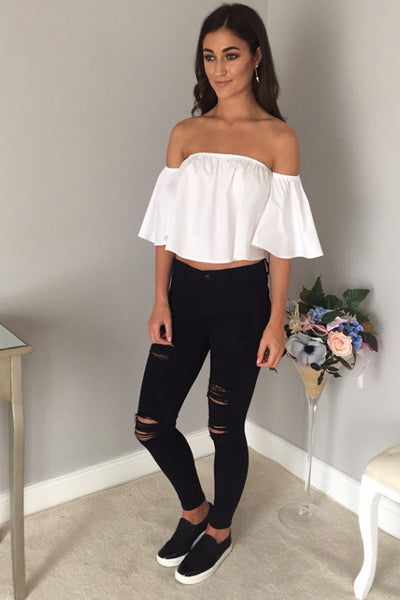 Pixie White Cropped Top - LadyVB   s.r.o - 2