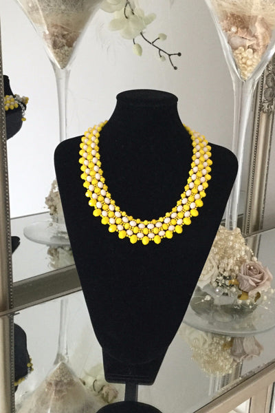 Brady Yellow Necklace - LadyVB   s.r.o