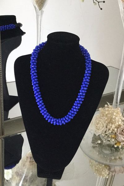 Charlotte Royal Blue Cluster Necklace - LadyVB   s.r.o