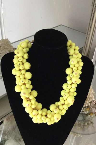 Berry Yellow Necklace - LadyVB   s.r.o