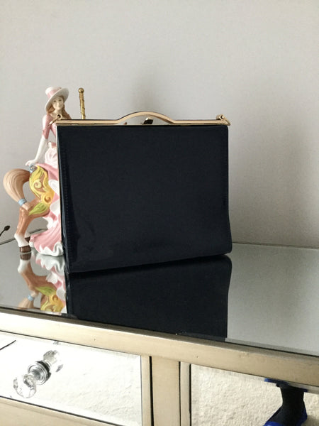 Navy Box Clutch Bag - LadyVB   s.r.o - 1