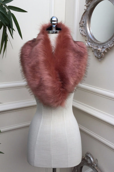 Noelle Pink Fur stole - LadyVB   s.r.o - 3