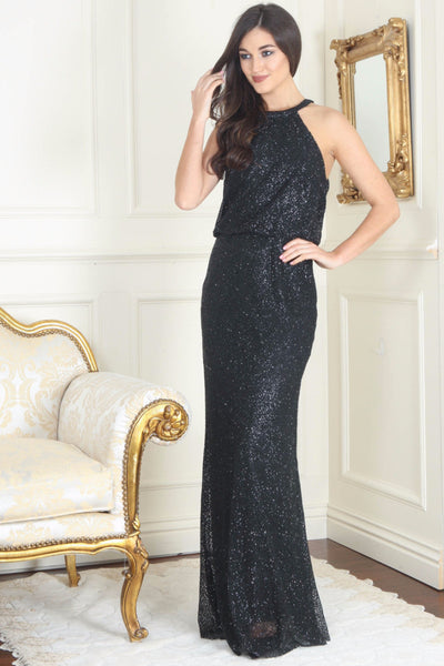 Danielle Black Glitter Maxi Dress - LadyVB   s.r.o - 1