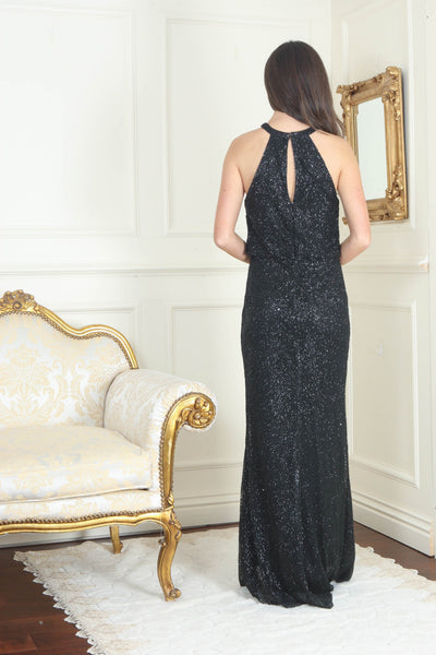 Danielle Black Glitter Maxi Dress - LadyVB   s.r.o - 2