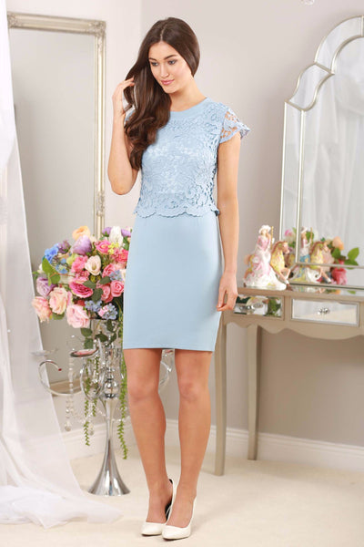 Baby Blue Lace Overlay - LadyVB   s.r.o - 1