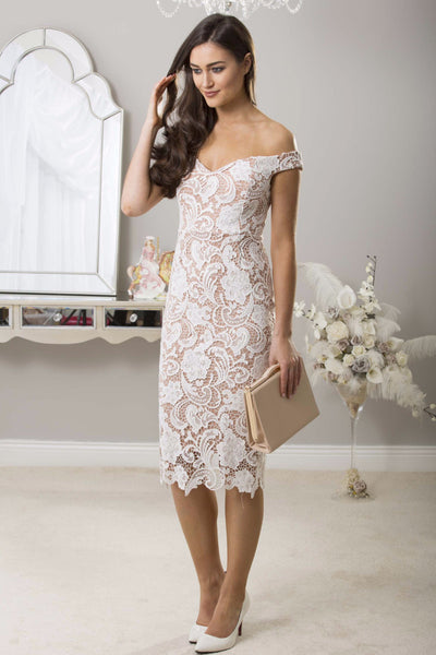 Zoe White Lace Dress - LadyVB   s.r.o - 1