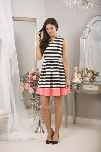 Striped Dress Neon Trim - LadyVB   s.r.o - 2