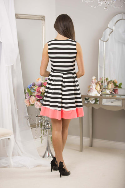 Striped Dress Neon Trim - LadyVB   s.r.o - 3