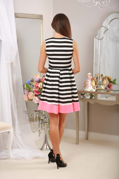 Striped Dress Neon Trim - LadyVB   s.r.o - 4