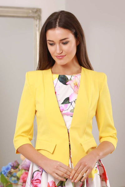 Yellow Linda Jacket - LadyVB   s.r.o - 3