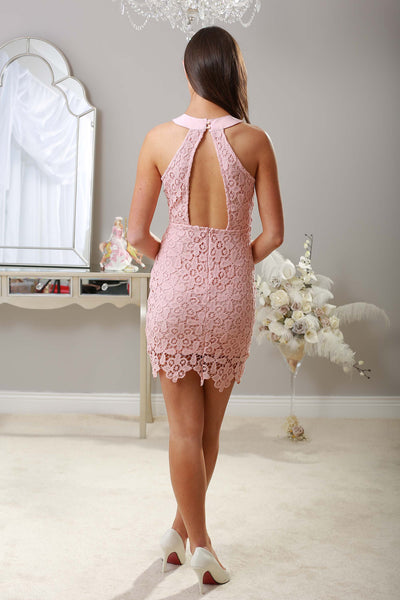 Winona Pink Tie Dress - LadyVB   s.r.o - 2