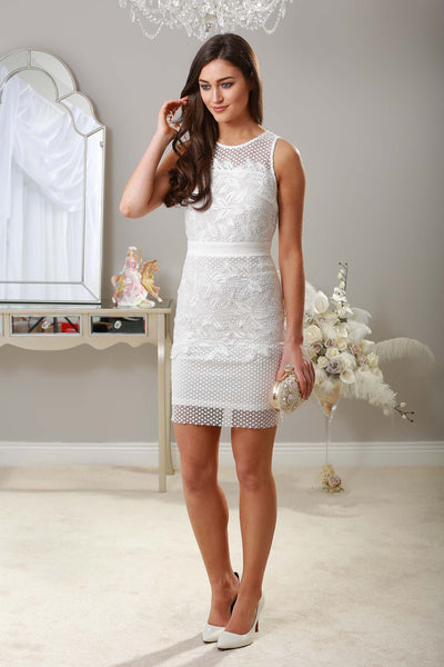 Zelda White Fitted Lace dress - LadyVB   s.r.o - 1