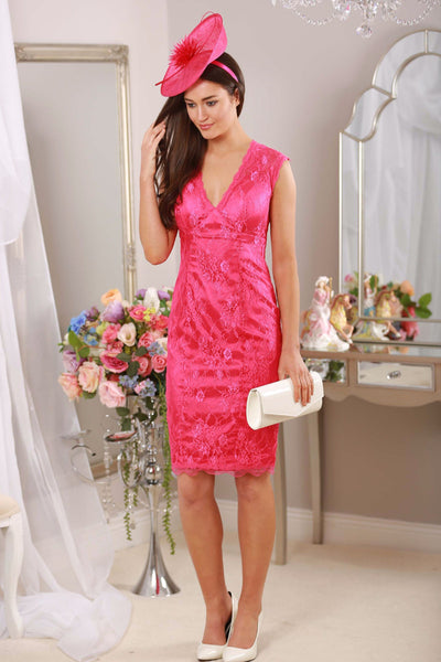 Cindy Pink Lace Dress - LadyVB   s.r.o - 1