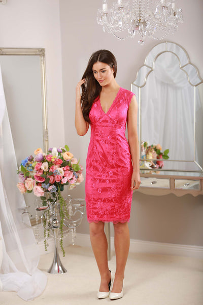Cindy Pink Lace Dress - LadyVB   s.r.o - 3