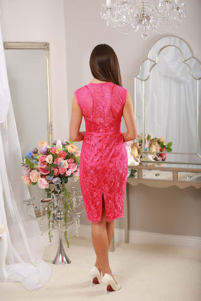 Cindy Pink Lace Dress - LadyVB   s.r.o - 2