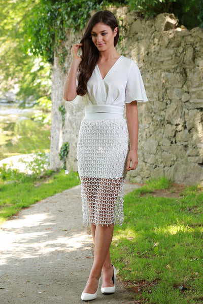 Julianne White Skirt - LadyVB   s.r.o - 1