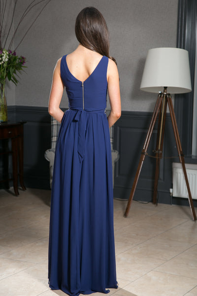Ashley Navy Grecian Maxi Dress - LadyVB   s.r.o - 4